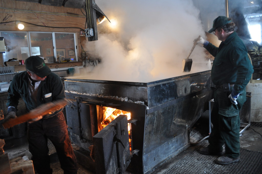 Dakin Farm Sugar Makers Boil Sap use.