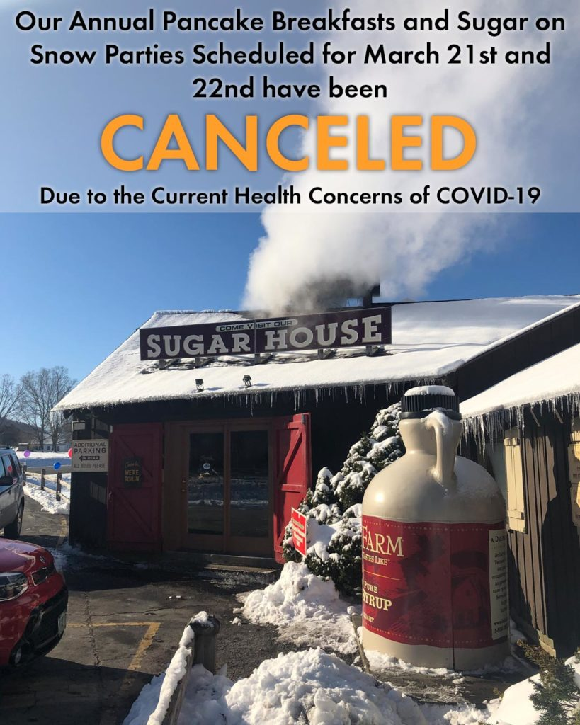 A Note to Our Customers Concerning COVID-19 and Our Annual Sugar on Snow Parties